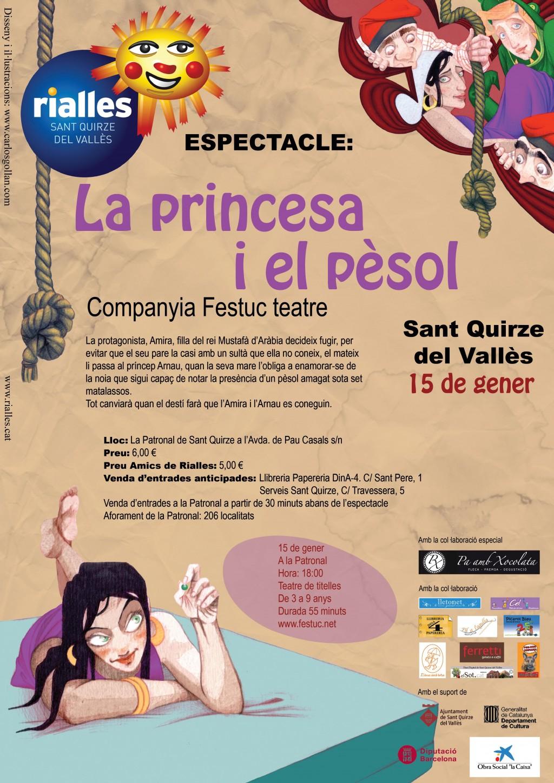 CARTELL DE LA PRINCESA I EL PESOL