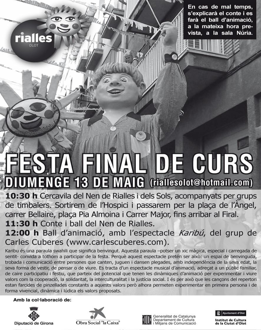FESTA DE FI DE CURS A OLOT 13-05-2012